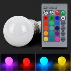 LED4Wb-RGB E27 4W 220lm LED RGB Light Bulb w/ Remote Controller / Memory Function (85~265V)