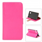 Buy Protective Flip Open PU Leather Case Stand / Card Slots LG Nexus 5 E980 D820 - Deep Pink