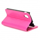 Protective Flip Open PU Leather Case w/ Stand / Card Slots for LG Nexus 5 E980 / D820 - Deep Pink