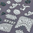 XF197198 DIY 3D Fashion Pattern Nail Art Stickers - Black + White
