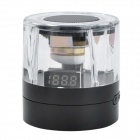 BM-F8 Mini Crystal MP3 Speaker w/ FM Radio w/ TF - Black + Transparent