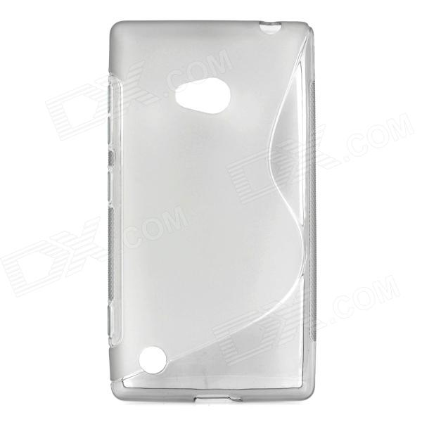 Stylish ''S'' Pattern Protective TPU Back Case for Nokia 720 - Translucent Grey blue butterfly design кожа pu откидной крышки кошелек для карты памяти чехол для alcatel one touch pop c9