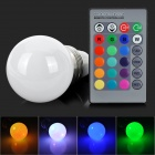 LED5.5Wb-RGB E14 3W 150lm LED RGB Light Bulb w/ Remote Controller / Memory Function (85~265V)