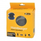 Hamburger Style Mini Speaker for Laptop + Cell Phone + MP3 - Black