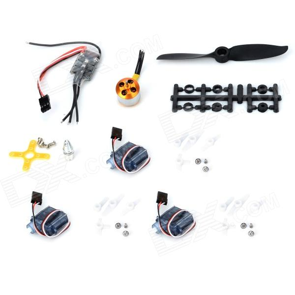ll-XM Replacement Parts Set for Fixed-Wing R/C Aircraft - Black + Golden + Silver repair parts replacement speakers for psp 1000 2 piece set