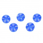 Acrylic Polyhedral Dice for Board Game - Translucent Blue (5 PCS)