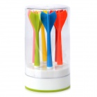POTENT Dart Style Kitchen Food Fruit Zirconium Oxide Fork Set - Multicolored