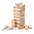 Jia Hui A077 Wooden 1~48 Number Building Blocks Jenga Toy Set - Beige + Brown