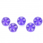 Acrylic 10-Side Game Dice - Purple (5 PCS)