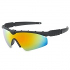 CARSHIRO 5936 Outdoor Sport UV400 Protection PC Frame Resin Lens Sunglasses for Men - Black