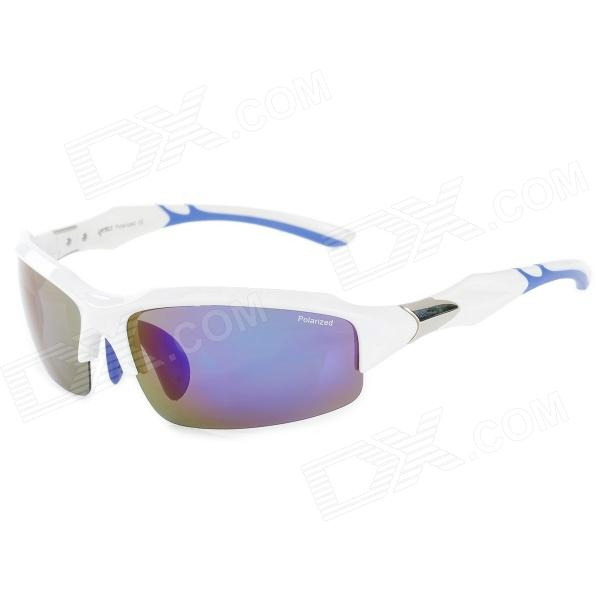 CARSHIRO 9385 UV400 Protection Polarized PC Frame Resin Lens Sunglasses - White skone relogio 9385