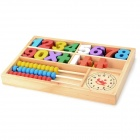 Jiahui A074 Wood Educational Numbers + Abacus Learning Blocks for Kids - Multicolored