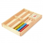 A074 Wood Educational Numbers + Abacus Learning Blocks for Kids