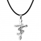 RUINUO XA1098 Aries Style 316L Stainless Steel Pendant Necklace for Men - Silver + Black