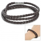 RUINUO PU Bracelet for Men - Coffee