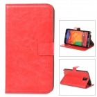 Protective PU Leather Case for Samsung Galaxy Note 3 N9000 - Red