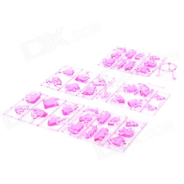 Yaosheng CJSL13038 Crystal ABS 3D Educational Building Blocks Toy - Pink 2886pcs minecrafted figures the mountain cave model building kits blocks bricks toy for children gift compatible 21137 big set