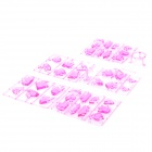Yaosheng CJSL13038 Crystal ABS 3D Educational Building Blocks Toy - Pink
