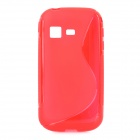 "Stylish ""S"" Pattern TPU Protective Back Case for Samsung B5330 - Red"