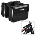 TOP CYCLING Bicycle Cycling Top Tube Double Bag - Black