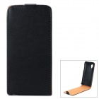 Protective Split Cow Leather Top Flip Case for LG Nexus 5 E980 - Black