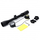 3 ~ 9X 40cm Aluminiumlegering Weaver Gun Scope Sight Set för Rifle / Crossbow + More - Black