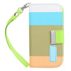 Protective PU Leather Holder Case w/ Card Slot for Samsung Galaxy S4 Mini i9190