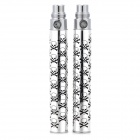 ZYS ZYS-XE031 Stainless Steel Li-ion Battery Electronic Cigarette Stems - Silver (2 PCS)