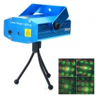 XL-S-D09 Mini Sound Control Red + Green Laser Stage Light w/ Tripod - Blue