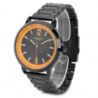 EYKI Casual Quartz Wrist Watch - Black + Orange