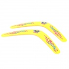 Sport Playing ABS V-Shaped Flying Disks for Kids - Yellow (2 PCS)
