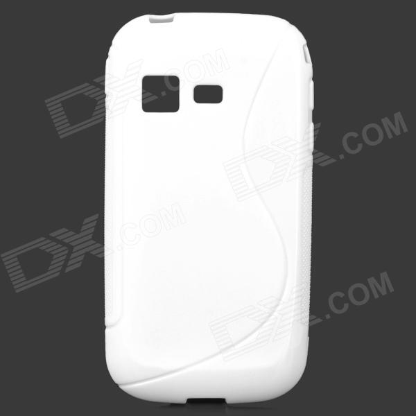 Protective S Style TPU Back Case for Samsung B5330 - White