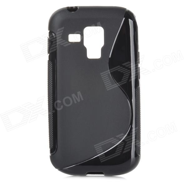 S Shape Protective TPU Back Case for Samsung S7562 - Black