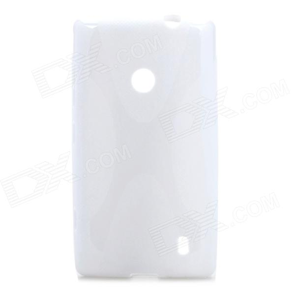 Protective X Style TPU Back Case for Nokia 520 - White