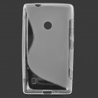 Protective S Style TPU Back Case for Nokia 520 - Transparent