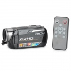 "RICH HD-R571S 3.0"" TFT 5.0MP CMOS Mini Digital Zooming Video Camera w/ SD / Mini USB - Black"