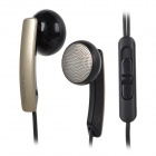 PLEXTONE X55M Universal In-Ear Earphones w/ Microphone - Black + Golden (3.5mm Plug / 1.2m)