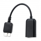 ABS + Plastic Micro USB V3.0 Male to USB Female OTC Cable for Samsung Note 3 / N9000 - Black (13cm)