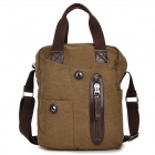 MLF 1018 Casual Men's Canvas Shoulder Bag w/ Strap - Coffee