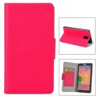 YSY-001 Stylish Flip-open PU Leather Case w/ Card Slot + Holder for Samsung Note 3 - Deep Pink