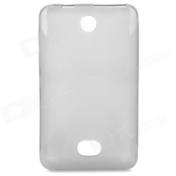Protective X Style TPU Back Case for Nokia 501 - Translucent Grey