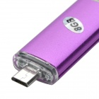 SUNG-20 8GB USB 2.0 Flash Drive w/ Support Video Playing Function - Purple + Silver