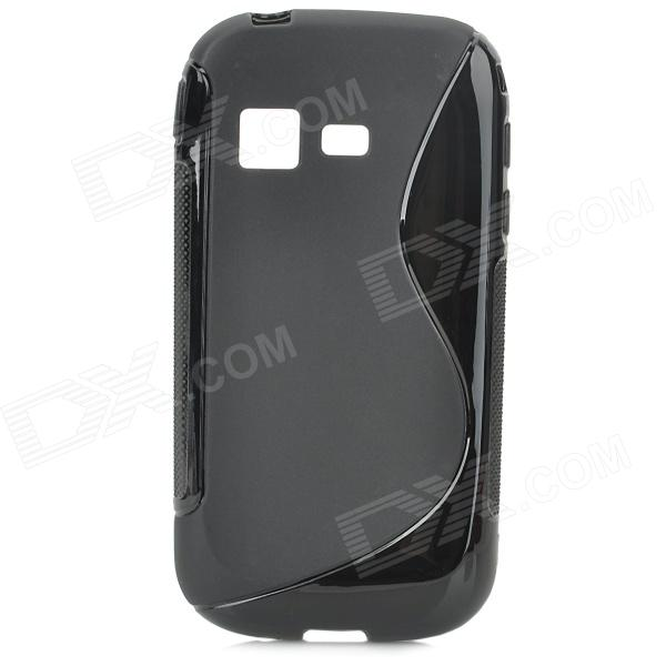Protective S Style TPU Back Case for Samsung B5330 - Black