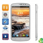 "Q6599 Quad-Core Android 4.2 WCDMA Bar Phone w/ 6.5"" Screen, 13MP Camera, Wi-Fi and GPS - White"