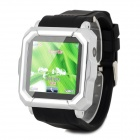 "Y-i900 GSM Wrist Watch w/ 1.54"" Resistive Screen, Quad-Band, Bluetooth and Java - Black + Silver"