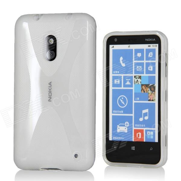 X Pattern Protective TPU Case for Nokia 620 - Transparent