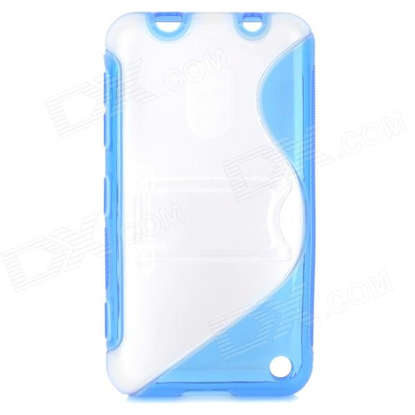 Protective S Style TPU Back Case for Nokia 620 - Blue + Transparent s style protective soft tpu back case for nokia lumia 928 translucent grey