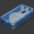 Protective S Style TPU Back Case for Nokia 620 - Blue + Transparent
