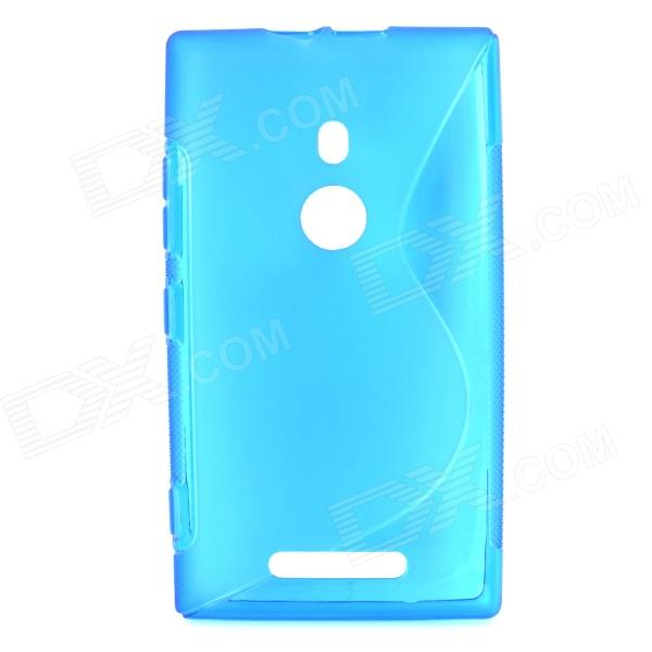 S Shape Protective TPU Back Case for Nokia 925 - Blue protective tpu case for nokia 925 black