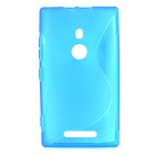 S Shape Protective TPU Back Case for Nokia 925 - Blue